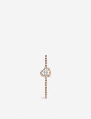 Messika Joy 18ct rose-gold and pave diamond earring
