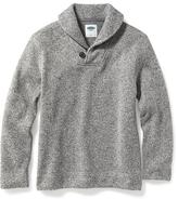 Old Navy Sweater-Knit Fleece Shawl-Collar Pullover for Boys