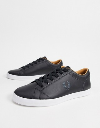 Fred Perry Baseline leather sneakers in black