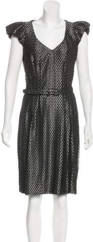 Andrew Gn Virgin Wool Metallic Dress
