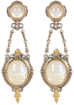 Konstantino Sterling Silver & 18K Gold Bezel Set Labradorite Dangle Earrings