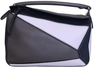 Loewe Puzzle Green Leather Handbags