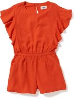 Old Navy Cinched-Waist Romper for Girls