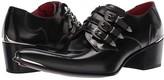 Jeffery West Slyvian Triple Buckle Punk Shoe (College Black) Men's Shoes