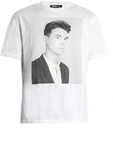Raf Simons American-fit David Byrne-print Cotton T-shirt