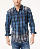 True Religion Men's Studded Plaid Shirt