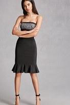 Forever 21 FOREVER 21+ Fluted Ribbed Skirt