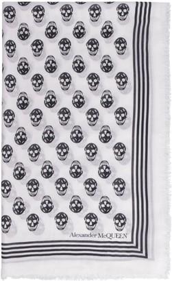 Alexander McQueen Skull Intarsia Shawl