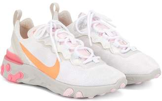 Nike React swoosh print lace-up sneakers