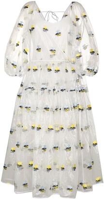 Cecilie Bahnsen x Browns 50 Regitze floral-print sheer midi dress