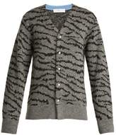 Toga Animal-jacquard wool-blend cardigan