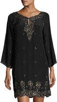 Calypso St. Barth Arji Sequin-Embellished Dress, Black