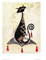 Thomas Laboratories 1art1 Posters: Marilyn Robertson Poster Art Print - Thomas, Die Katze (20 x 16 inches)