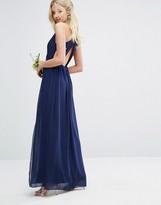 TFNC WEDDING Pleated Maxi Dress With Back Detail