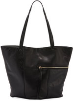 Kooba Prescott Leather Asymmetric Tote Bag, Black