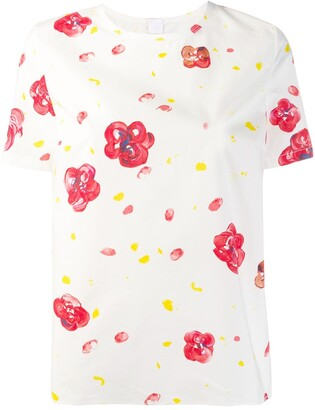 Marni poplin floral-print T-shirt