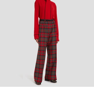 Mulberry Patsy Trousers Scarlet Tartan Wool