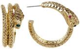 Betsey Johnson Coiled Snake Hoop Earrings