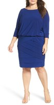 Adrianna Papell Plus Size Women's Tiered Blouson Dress