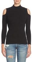 1 STATE 1.State Cold Shoulder Mock Neck Sweater