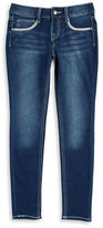 Imperial Star Girls 7-16 Lace Accented Denim Leggings