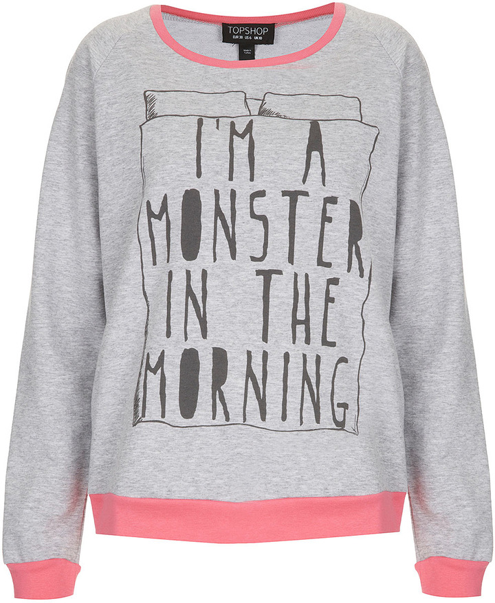 Topshop Monster PJ Sweat Top
