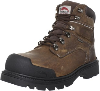 Avenger Safety Footwear Avenger 7258 Leather Waterproof Steel Toe Puncture Resistant High Abrasion EH Work Boot