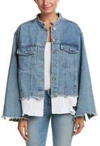 Alythea Shirt Hem Denim Jacket.