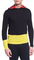 Ralph Lauren Colorblock Knit Hoodie, Navy