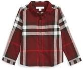 Burberry Mini Fred Check Flannel Woven Shirt (Little Boys & Big Boys)