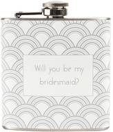 """Cathy's Concepts Cathys concepts 6-oz. """"Will You Be My Bridesmaid?"""" Flask"""