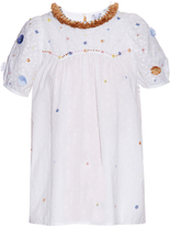 Thierry Colson Olympia Garden-embroidered short-sleeved shirt