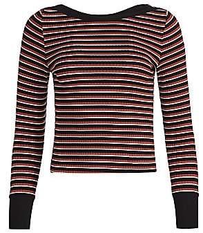 Frame Women's Variegated Stripe Long-Sleeve Tee