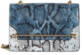 Strathberry The East/West Snake Embossed Goatskin Leather Crossbody Bag
