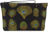 Alexander McQueen peacock weave pouch - men - Leather/Nylon/Polyester - One Size