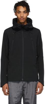 Descente Black Schematech Air Hooded Jacket