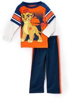Children's Apparel Network Orange Lion Guard Top & Pants - Toddler