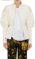 Dries Van Noten Women's Banim Victorian-Sleeve Cotton-Linen Jacket