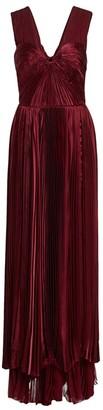 BURNETT NEW YORK Plisse Silk Gown