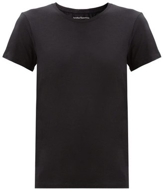 Another Tomorrow - Round-neck Organic-cotton T-shirt - Black