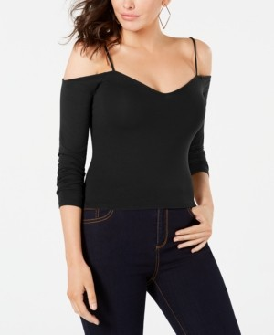 GUESS 3/4-Sleeve Cold-Shoulder Top
