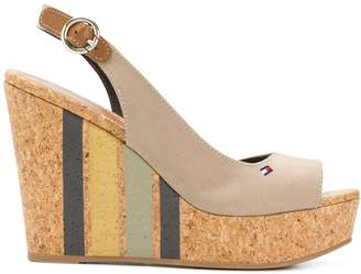 Tommy Hilfiger striped wedge sandals