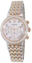 Bulova Women's Diamond 98R215 Rose Stainless-Steel Quartz Watch
