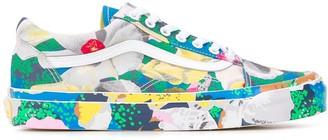 Kenzo x Vans stylised floral-print Old Skool sneakers