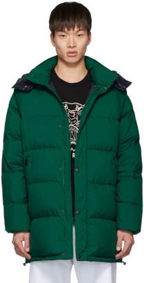 Kenzo Green Down Elongated Puffer Jacket
