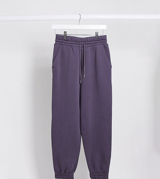 ASOS DESIGN Petite super oversized jogger in petrol blue