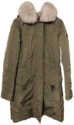 Peuterey Khaki Coat for Women
