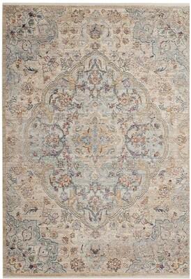 "Bungalow Rose Soren Floral Wool Cream Area Rug Rug Size: Runner 2'3"" x 8'"