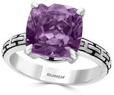 Effy Amethyst and 0.925 Sterling Silver Cutout Shank Ring
