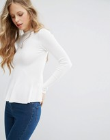 Miss Selfridge Ribbed Peplum Sweater